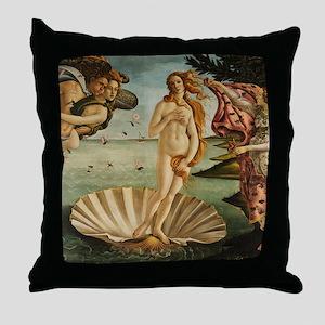 Botticelli Birth Of Venus Throw Pillow