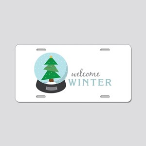 Welcome Winter Aluminum License Plate