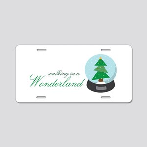 Walking in a Wonderland Aluminum License Plate