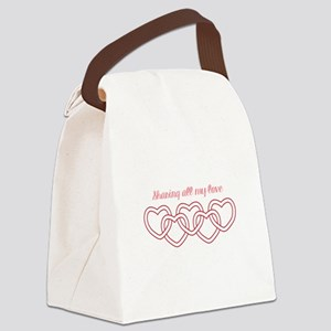 Sharing All My Love Canvas Lunch Bag