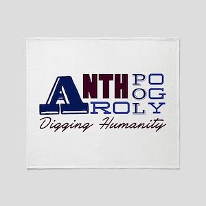 Digging Humanity Throw Blanket