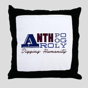 Digging Humanity Throw Pillow