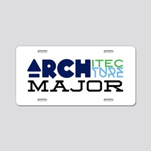 Architecture Major Aluminum License Plate
