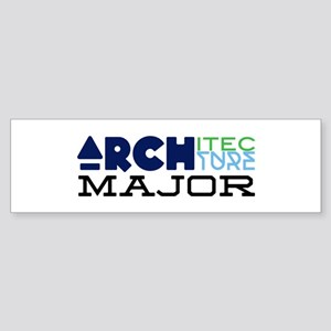 Architecture Major Bumper Sticker