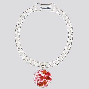 Bubbles Red Charm Bracelet, One Charm