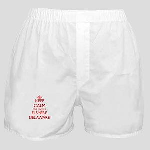 Keep calm we live in Elsmere Delaware Boxer Shorts