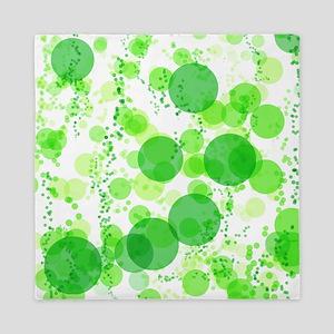 Bubbles Green Queen Duvet