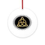 Black/gold-effect Triquetra Art Pendant - Ornament