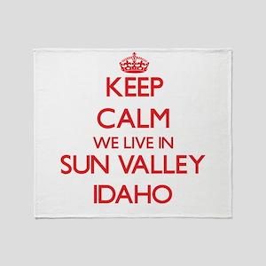 Keep calm we live in Sun Valley Idah Throw Blanket