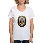USS JOHN S. MCCAIN Women's V-Neck T-Shirt