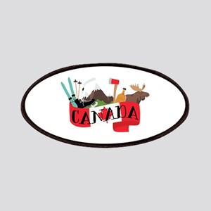 Canada Country Flag Banner Montage Patches