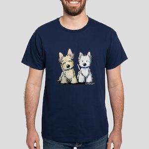 KiniArt Terrier Duo Dark T-Shirt