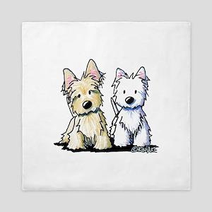 KiniArt Terrier Duo Queen Duvet