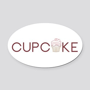 Cupcake Oval Car Magnet