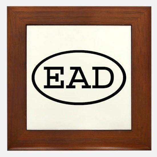 EAD Oval Framed Tile