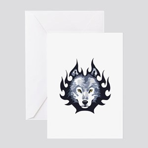 WOLF HEAD SMALL Greeting Cards