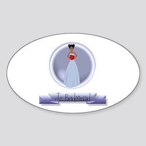 Dee's Jr. Bridesmaid Oval Sticker