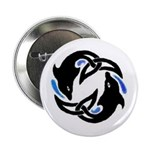 2Dolphins Button (10 pack)