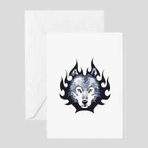 WOLF HEAD MEDIUM Greeting Cards