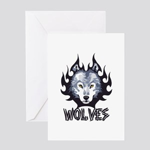 TEAM WOLVES Greeting Cards