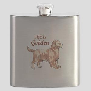 LIFE IS GOLDEN Flask