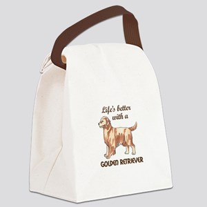 BETTER WITH RETRIEVER Canvas Lunch Bag