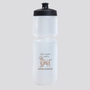 BETTER WITH RETRIEVER Sports Bottle