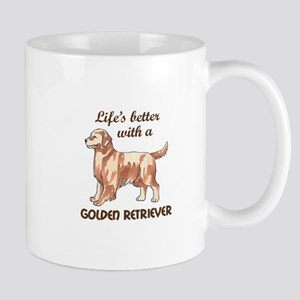 BETTER WITH RETRIEVER Mugs
