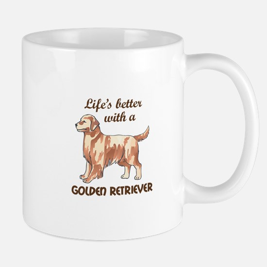BETTER WITH RETRIEVER Mugs
