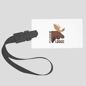 Moose Lodge Head Luggage Tag