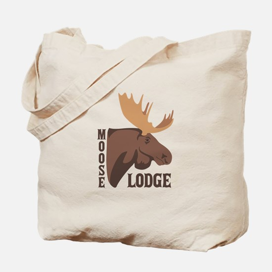 Moose Lodge Head Tote Bag