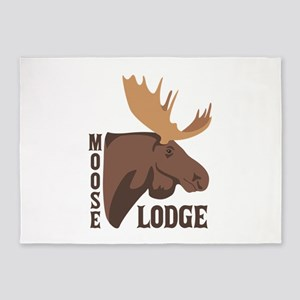 Moose Lodge Head 5'x7'Area Rug