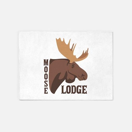 Moose Lodge Head 5'x7'Area Rug