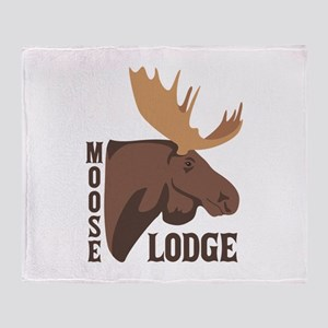 Moose Lodge Head Throw Blanket