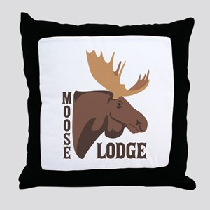 Moose Lodge Head Throw Pillow