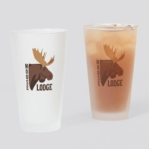 Moose Lodge Head Drinking Glass