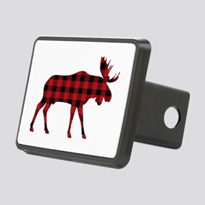 Plaid Moose Animal Silhouette Hitch Cover