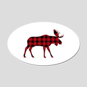 Plaid Moose Animal Silhouette Wall Decal