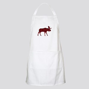 Plaid Moose Animal Silhouette Apron
