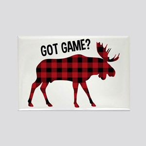 Plaid Moose Animal Silhouette Game Magnets