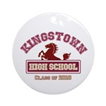 Kingstown High School Ostsg Round Ornament
