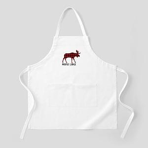 Plaid Moose Animal Silhouette Lodge Apron