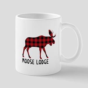 Plaid Moose Animal Silhouette Lodge Mugs