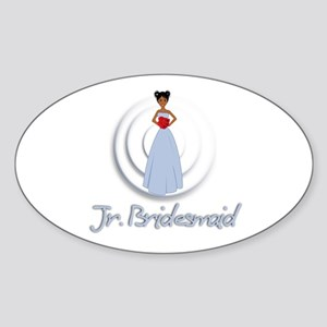 Dee's Jr's Bridesmaid Oval Sticker