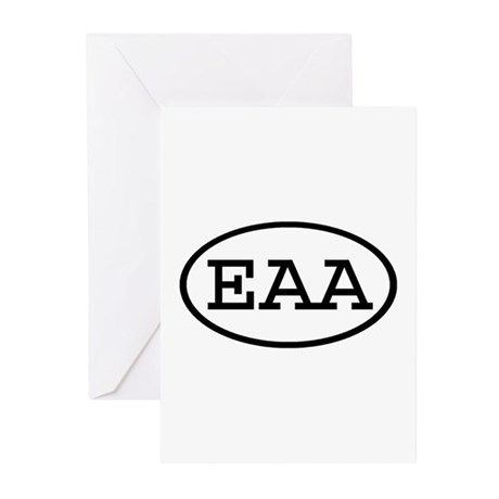 EAA Oval Greeting Cards (Pk of 10)