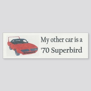 '70 Superbird Bumper Sticker