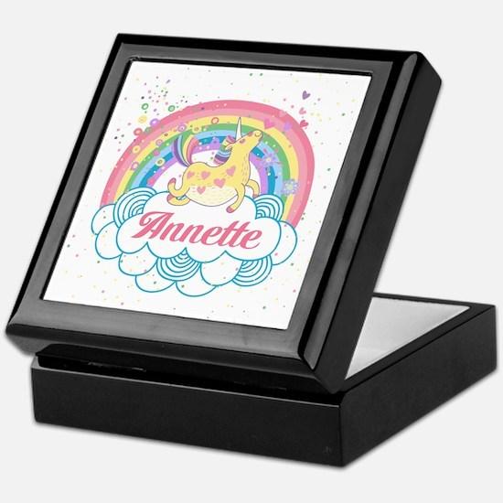 Unicorn and Rainbow Personalized Keepsake Box