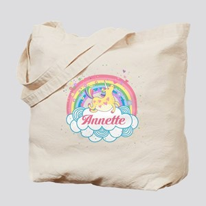 Unicorn and Rainbow Personalized Tote Bag