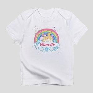 Unicorn and Rainbow Personalized Infant T-Shirt