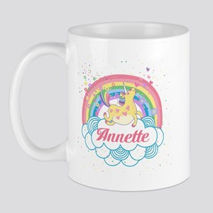 Unicorn And Rainbow Personalized Mugs